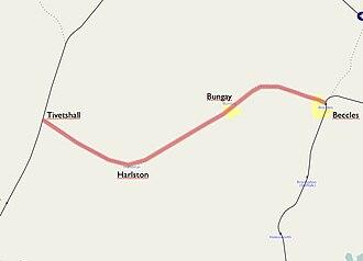 Waveney Valley line - Image: Waveney line