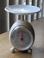 1kgfまで量れる重量計