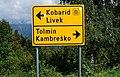 Wegweiser im Soča Tal, Slowenien, EU.jpg
