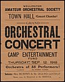 Wellington Amateur Orchestral Society -Town Hall (Concert Chamber). Grand orchestral concert under vice-regal patronage in aid of Camp Entertainment Fund, Thursday, Sep 12, 1918. Orchestra of 35 (21042791314).jpg