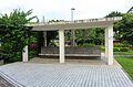 Wenhua Park Square Pavilion and Cement Bench 20150603.jpg
