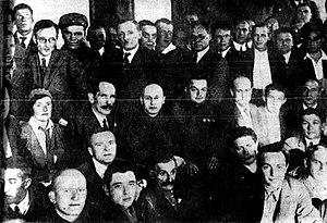 The I.V. Stalin White Sea – Baltic Sea Canal - Members of the Writers' Brigade touring the White Sea Canal, 1933
