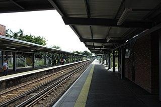 Railway station in London, England