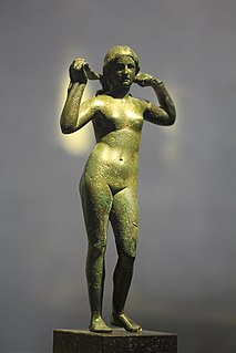 one of the iconic representations of Aphrodite