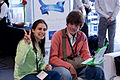Wikimania 2009 - Valeria and Will.jpg
