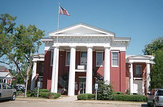 Camden, Alabama - Wilcox County Courthouse in Camden, completed in 1857.