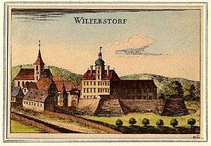 Georg Matthäus Vischer - Image: Wilferstorf, Vischerstich faerbig