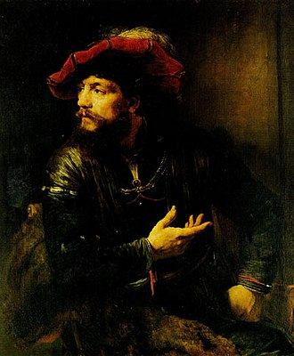 1654 in art - Image: Willem Drost Portrait of an Officer in a Red Beret 1654