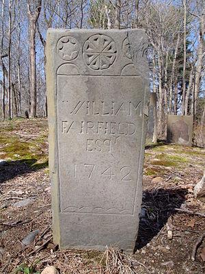 William Fairfield (Massachusetts) - Footstone of William Fairfield (1662-1742)