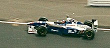 Photo de la Williams FW19 de Jacques Villeneuve à Silverstone