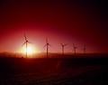 Wind turbines at sunset, California LCCN2011630079.tif