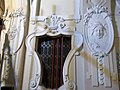 Window with stuccos on the staircase - Budapest, District 5. Március 15. Sq -7.JPG