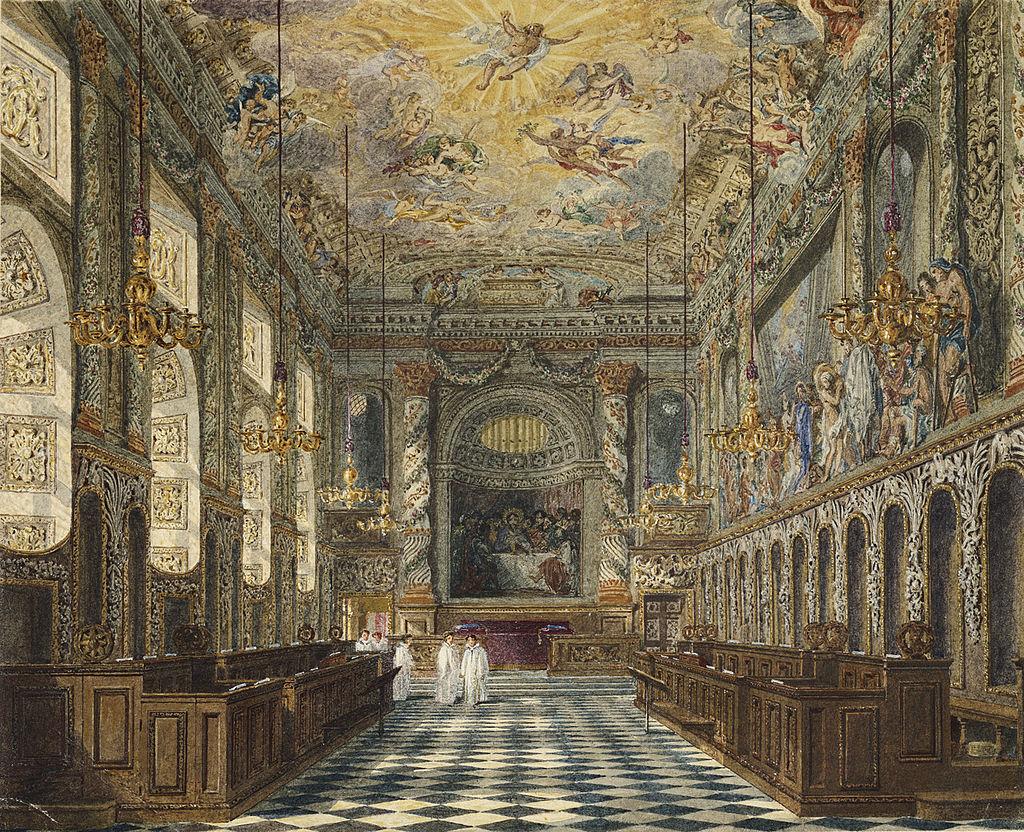 Windsor Castle, Royal Chapel, by Charles Wild, 1818 - royal coll 922113 313693 ORI 1.jpg