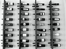 Wine rack on stainless steel house designs