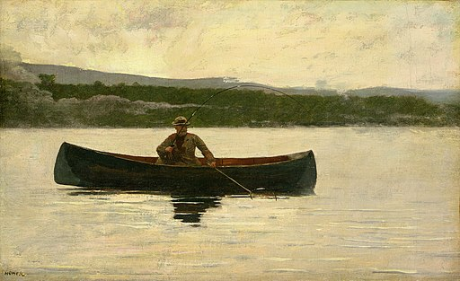 Winslow Homer - Playing a Fish