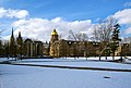 Winter on North Quad in front of the Hesburgh Library.JPG