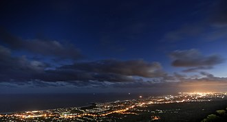 Wollongong - Overlooking Wollongong at night
