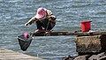 Woman fishing for shore crabs 5.jpg