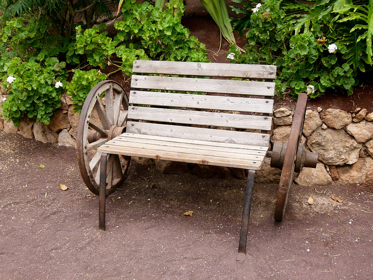 File Wooden Bench Oasis Park Wikimedia Commons