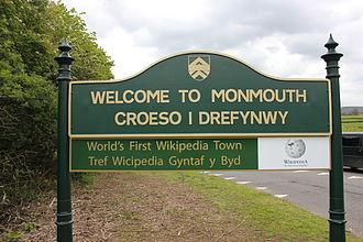 Monmouthpedia - Image: World's first Wikipedia town 5