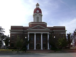 Worth County, Georgia - Image: Worth County Courthouse, (east face)