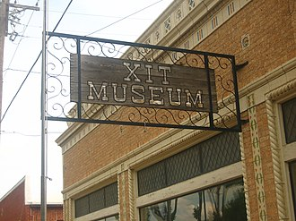 XIT Museum - The XIT Museum operates across the street from the Dallam County Courthouse in Dalhart, Texas.