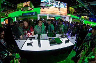 Xbox One - Xbox One at E3 2013 alongside the Xbox 360 E model