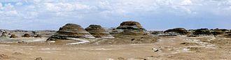 Yardang - Yardangs in the Tsaidam Desert, Qinghai Province, China.
