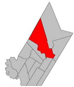 Location within York County, New Brunswick.