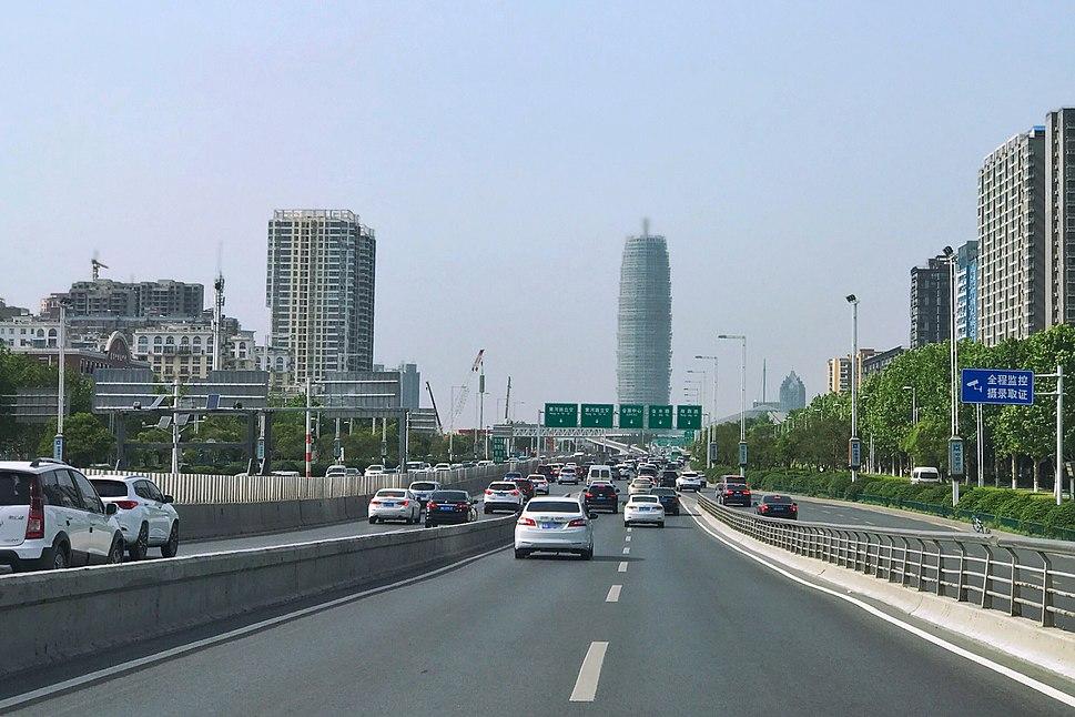 Zhongzhou Avenue near Zhengdong New Area CBD