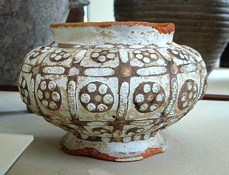 Chinese influences on Islamic pottery - Eastern Zhou vase, thought to incorporate Western influences (3rd-4th century BCE).