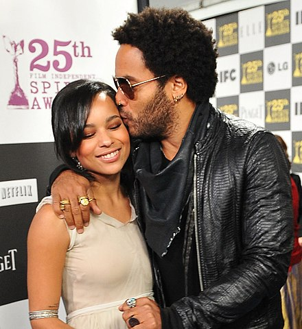 Kravitz with daughter Zoe Kravitz at the 25th Spirit Awards in March 2010. Zoe Kravitz and Lenny Kravitz at the 25th Spirit Awards (cropped).jpg