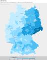 Zweitstimmenanteil der AfD bei der Bundestagswahl 2017 umgerechnet auf die Wahlkreiseinteilung 2021.png