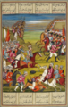 'Abbās Mīrzā charging the Russians under general Bawalkunik. A Qajar-era miniature.png