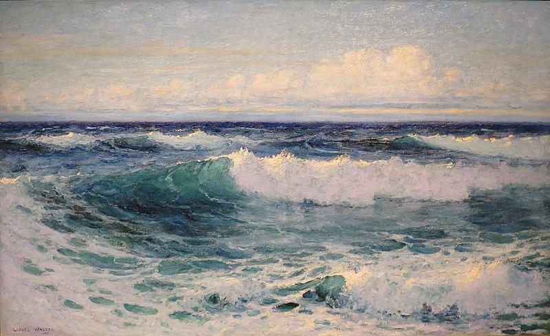 File:'Hawaiian Seascape' by Lionel Walden, oil on canvas, 1928, Hawaii State Art Museum.JPG