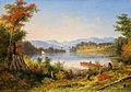 'The Narrows, Lake St. Charles', oil painting by Cornelius Krieghoff, 1863.jpg