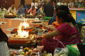 (A) Hindu community pooja in progress, Atham Havan & Yagna, Walsall, England 2010.jpg