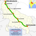 (Varanasi - Dehradun) Express route map.png
