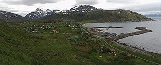 Skjervøy - View of the village of Årviksand