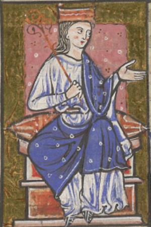 Æthelred, Lord of the Mercians - Æthelflæd as depicted in the thirteenth-century cartulary of Abingdon Abbey