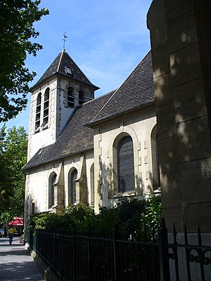 Clichy, Hauts-de-Seine - The church of Saint-Vincent-de-Paul, in Clichy