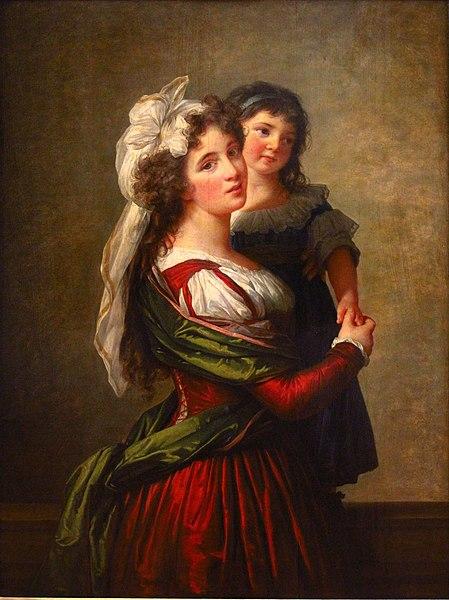 Fichier:Élisabeth-Louise Vigée-Le Brun - Madame Rousseau et sa fille (1789).JPG