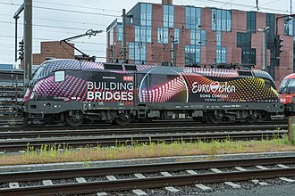 Eurovision Song Contest 2015 - Image: ÖBB Lok 1116 180 1 Building Bridges Eurovision Song Contest