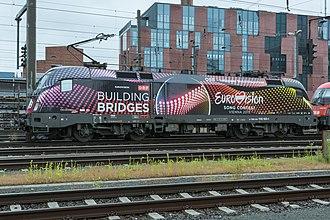 Eurovision Song Contest 2015 - Image: ÖBB Lok 1116 180 1 Building Bridges Eurovision Song Contest