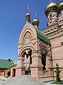 Голосіївська Свято-Покровська пустинь, вхід в храм.jpg