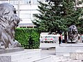 Красноярск. Львы на Театральной пл.JPG