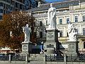 Пам'ятник княгині Ользі, апостолу Андрію Первозваному та просвітителям Кирилу і Мефодію, Михайлівська площа.JPG