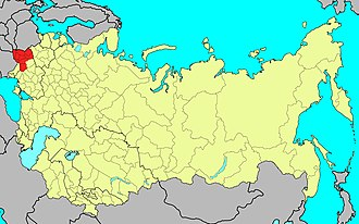Carpathian Military District - Location of the district in the Soviet Union