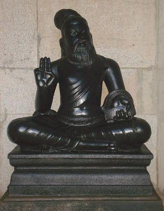 Thiruvalluvar - A statue of Valluvar