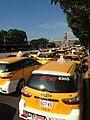台灣團結聯盟發動30多輛計程車抗議馬習會.jpg